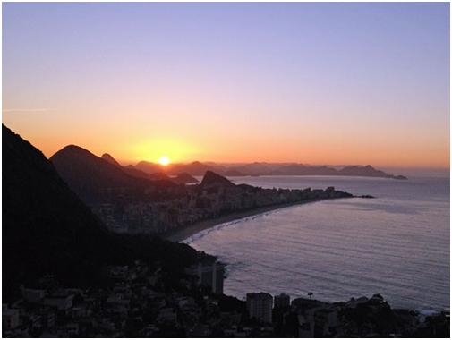 Vista do Arvrão, no Vidigal (Foto: José Raphael Berredo/ G1)
