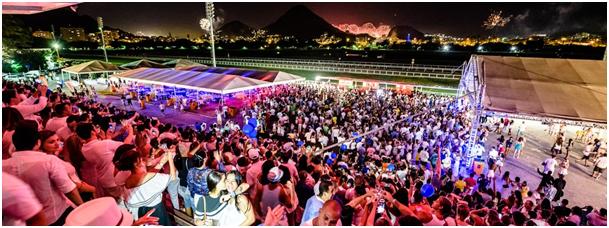 Festa Rio Réveillon, no Jockey Club Brasileiro, tem vista para fogos da Lagoa e da orla (Foto: Raphael Medeiros/Divulgação)