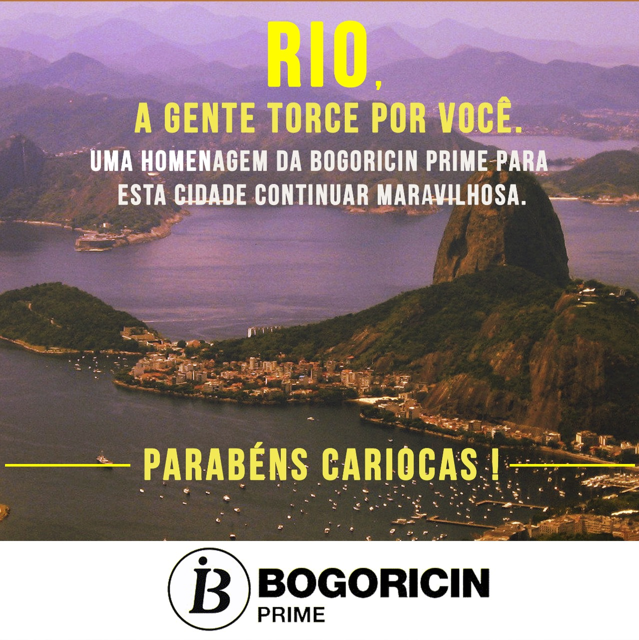 Feliz aniversario Rio de Janeiro